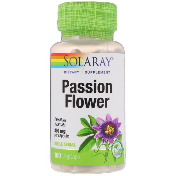 Пассифлора, 350 мг, 100 растительных капсул