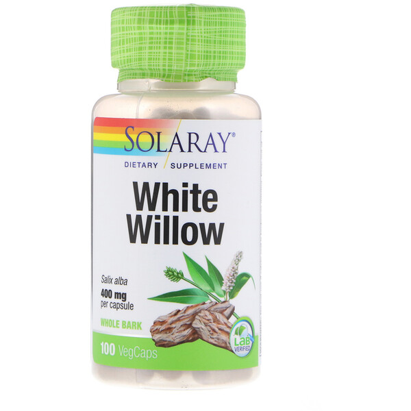 Solaray, White Willow, 400 mg, 100 VegCaps