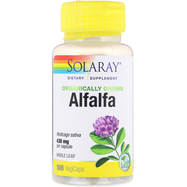 Organically Grown Alfalfa, 430 mg, 100 VegCaps