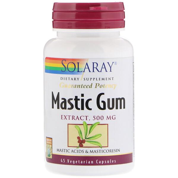 Экстракт мастиковой смолы, 500 мг, 45 вегетарианских капсул