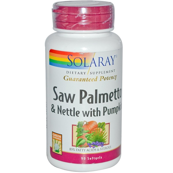 Solaray, Saw Palmetto & Nettle with Pumpkin, 90 Softgels (Discontinued Item)