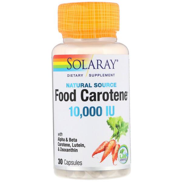 Solaray, Food Carotene, натуральный источник, 10 000 МЕ, 30 капсул