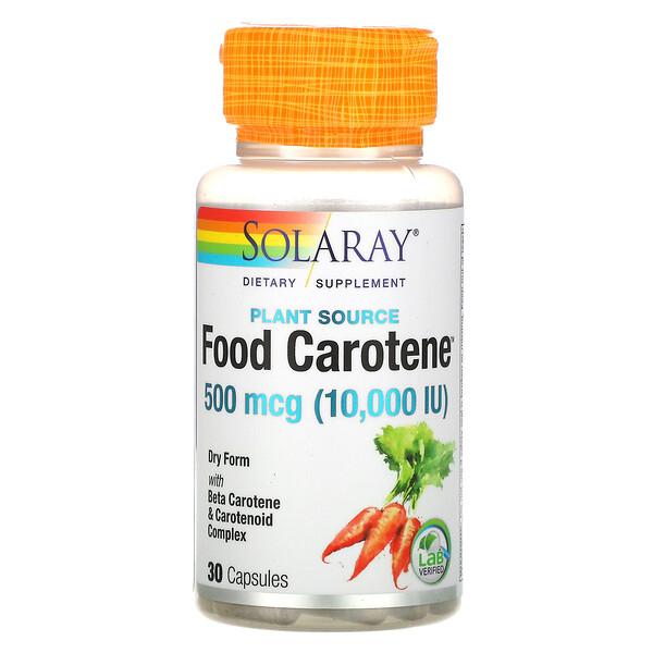 пищевой каротин с бета-каротином и каратиноидным комплексом, 500мкг (10000МЕ), 30капсул