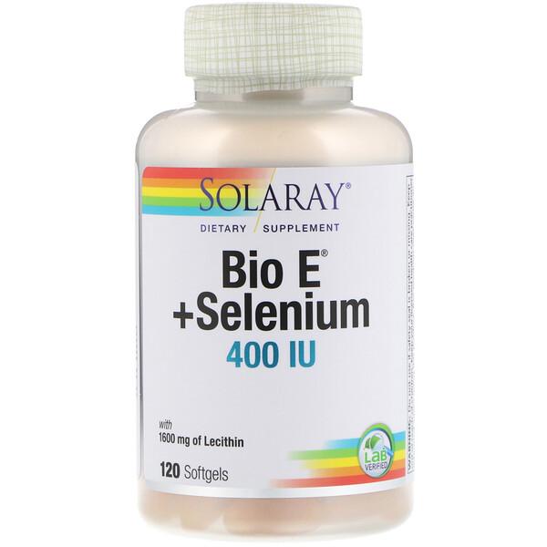 Solaray, Био E + селен, 400 МЕ, 120 мягких таблеток