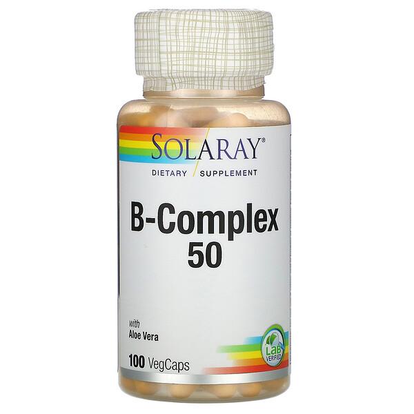 B-Complex 50, 100 капсул с оболочкой из ингредиентов растительного происхождения