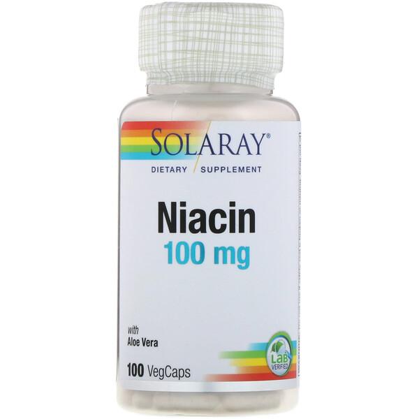Ниацин, 100мг, 100растительных капсул