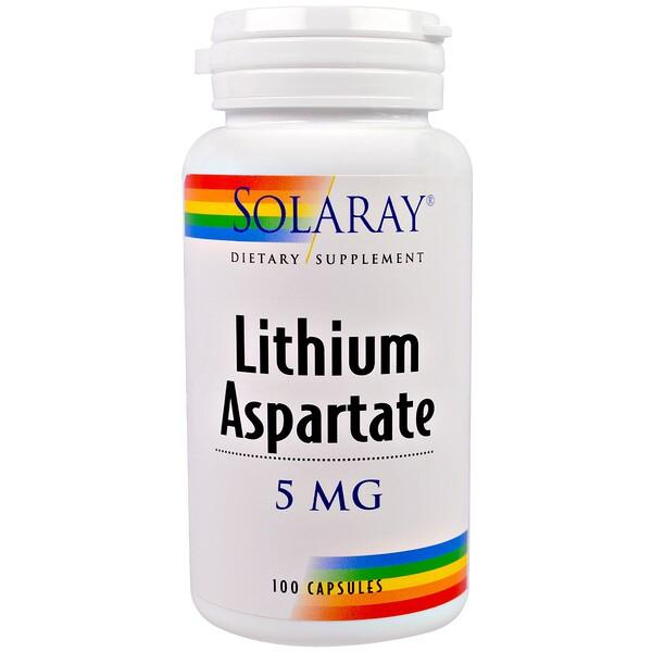 Аспартат лития, 5 мг, 100 капсул