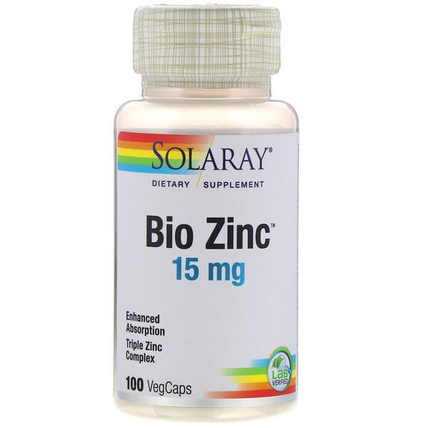 Bio Zinc, 15 мг, 100 растительных капсул