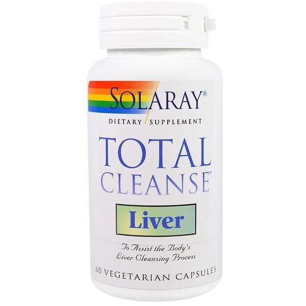 Solaray, Total Cleanse, для очистки печени, 60 вегетарианских капсул