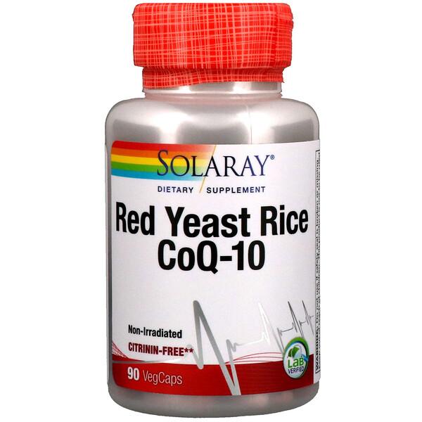 Красный дрожжевой рис + коэнзим Q10, 90 вегетарианских капсул