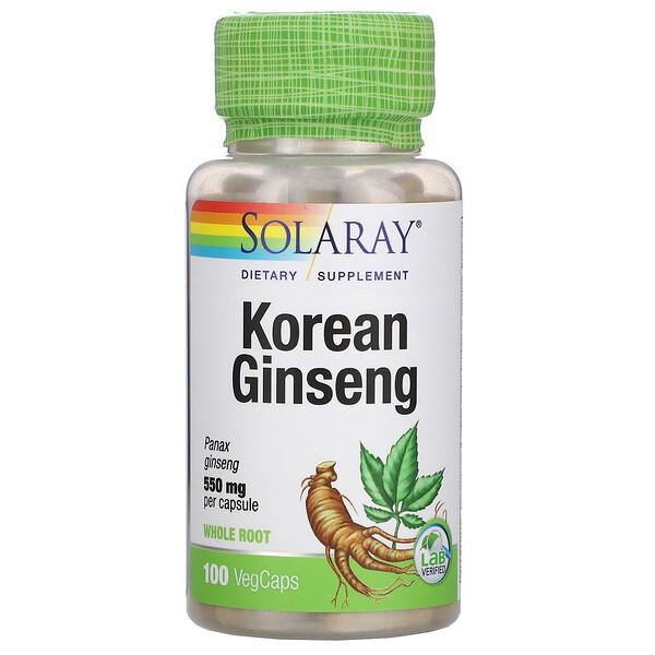 Korean Ginseng, 550 mg, 100 VegCaps