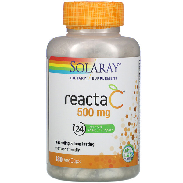 Solaray, Reacta-C, 500 mg, 180 VegCaps