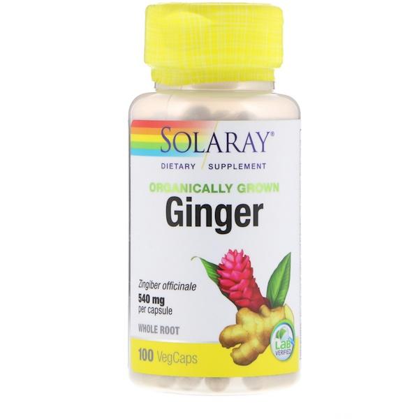 Organically Grown Ginger, 540 mg, 100 VegCaps
