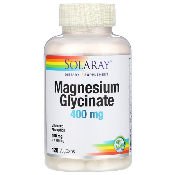 глицинат магния, 400мг, 120 растительных капсул