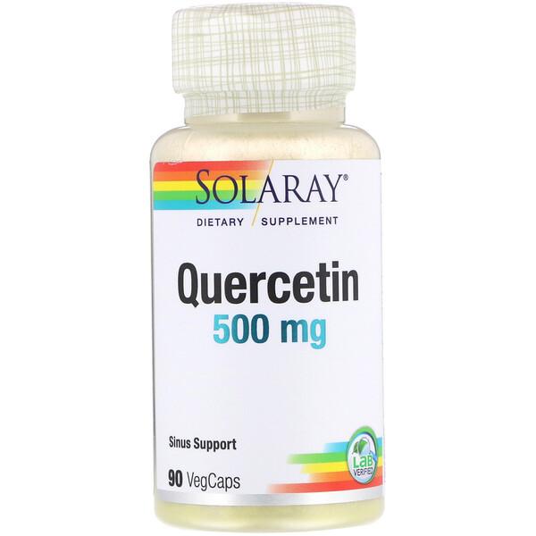 Кверцетин, 500 мг, 90 растительных капсул