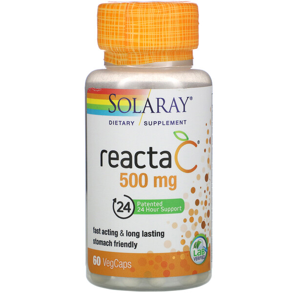 Solaray, Reacta-C, 500 mg, 60 VegCaps