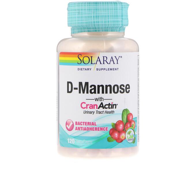 D-манноза, с CranActin, 120 вегетарианских капсул