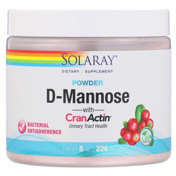 D-манноза с порошком CranActin, 2000мг, 226г (8унций)