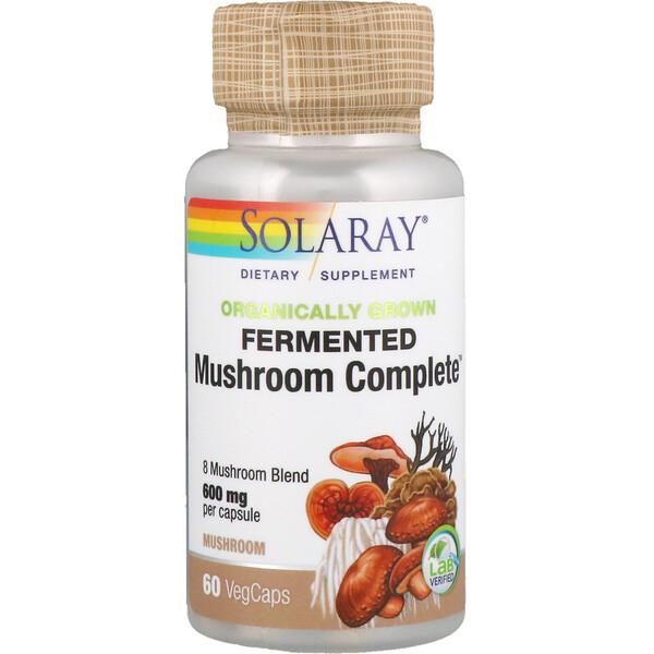Ферментированный комплекс органического происхождения Mushroom Complete, 600 мг, 60 капсул с растительной оболочкой