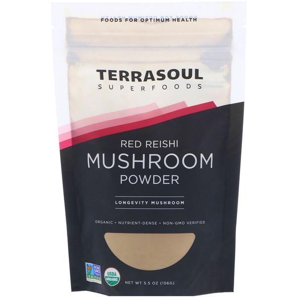 Terrasoul Superfoods, Порошок красного рейши, 5,5 унц. (156 г) (Discontinued Item)