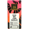 Endangered Species Chocolate, Cacao Nibs + Dark Chocolate, 72% Cocoa, 3 oz (85 g)