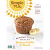 Simple Mills, Натуральная смесь миндальной муки без глютена, банановый кекс и хлеб, 9 унций (255 г)