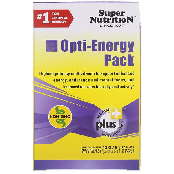 Super Nutrition, Набор Opti-Energy, мультивитаминно-минеральная добавка, 30 пакетиков по 6 таблеток