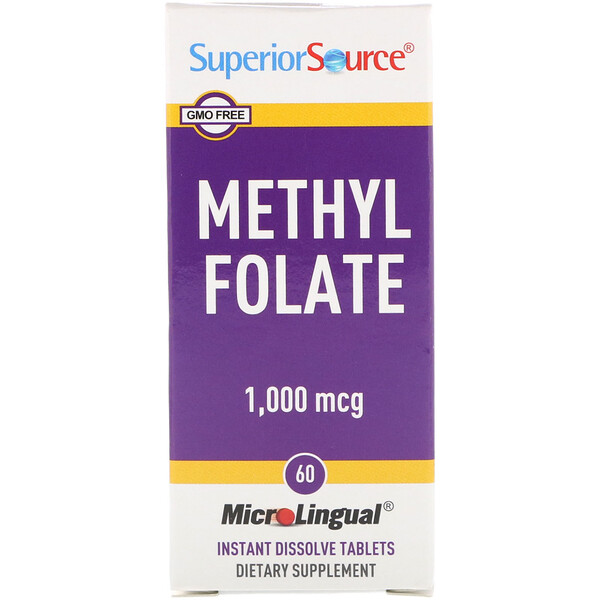 Methyl Folate, 1,000 mcg, 60 Tablets