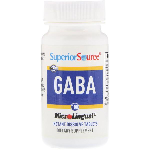 GABA, 100 мг, 100 мгновенно растворяющихся микротаблеток