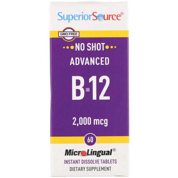 Advanced B-12, 2,000 mcg, 60 Tablets