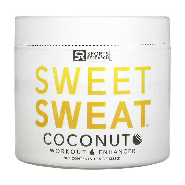"""""""Sweet Sweat"""", предтренировочный комплекс с кокосовым вкусом, 13,5 унций (383 г)"""