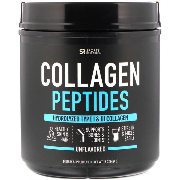 Пептиды коллагена, без вкусовых добавок, 454г (16унций)