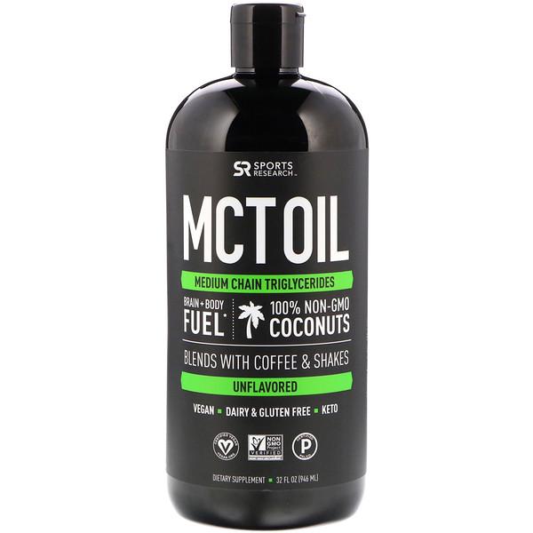 Масло MCT, без вкусовых добавок, 32 ж.унц. (946 мл)