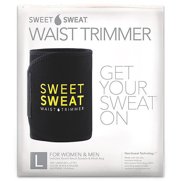 Sweet Sweat, пояс для похудения, большой, черный и желтый, 1шт.