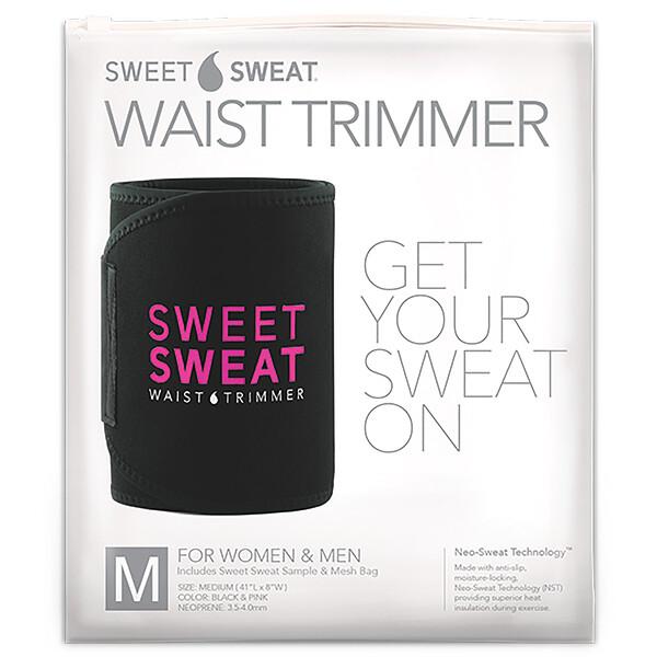 Sports Research, Sweet Sweat, пояс для похудения, средний, черного и розового цвета, 1шт.