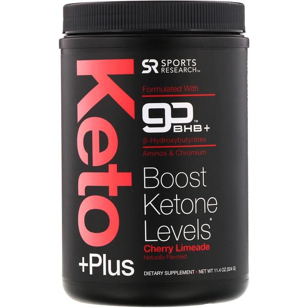 Keto Plus, GO BHB +, Cherry Limeade, 11.4 oz (324 g)