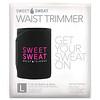 Sports Research, Sweet Sweat, пояс для похудения, большой, черный и розовый, 1шт.