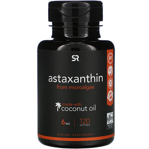 Sports Research, Astaxanthin with Coconut Oil,  6 mg, 120 Softgels'