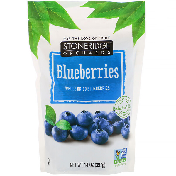 Blueberries, Whole Dried Blueberries, 14 oz (397 g)