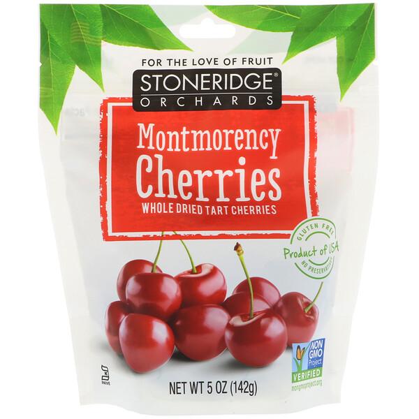 Stoneridge Orchards, Вишни Монморанси, целые сушеные терпкие вишни, 5 унций (142 г)