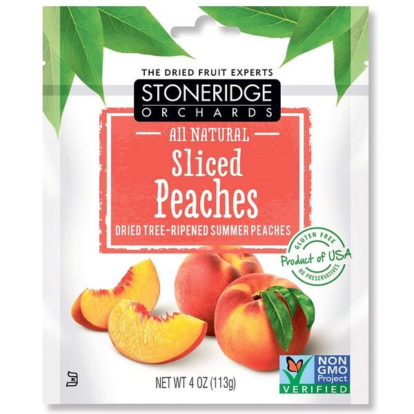 Stoneridge Orchards, Персиковые дольки, высушенные летние персики, созревшие на дереве, 113г (4унции)