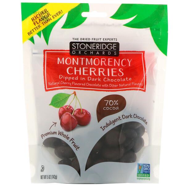 вишни Монморанси, в темном шоколаде, 70% какао, 142 г (5 унций)