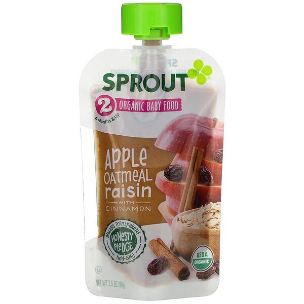 Baby Food, 6 Months & Up,  Apple Oatmeal Raisin with Cinnamon, 3.5 oz (99 g)