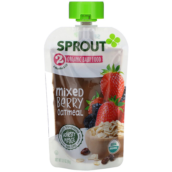 Baby Food, 6 Months & Up, Mixed Berry Oatmeal, 3.5 oz (99 g)