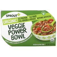 Sprout Organic, Veggie Power Bowl, 12 Months & Up, Veggies, Beans & Quinoa In A Mediterranean Veggie Sauce, 5 oz ( 142 g)
