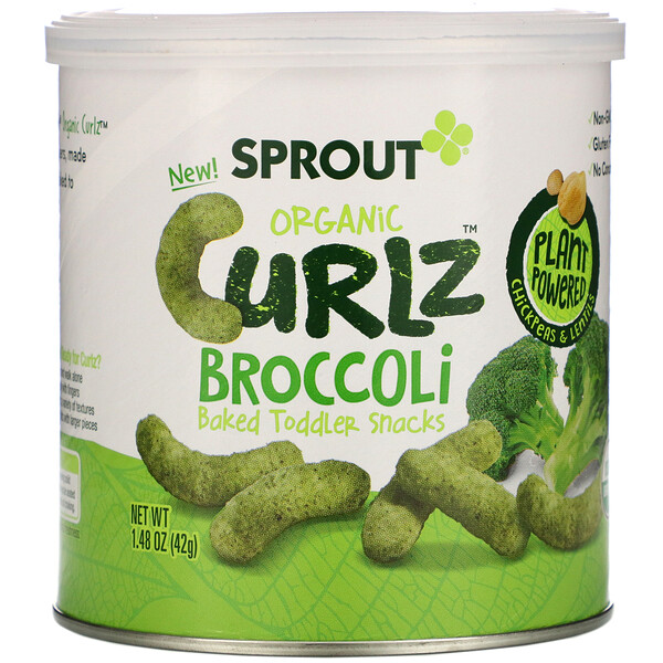 Curlz, брокколи, 1,48 унц. (42 г)