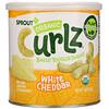 Sprout Organic, Curlz, белый чеддер, 1,48 унц. (42 г)