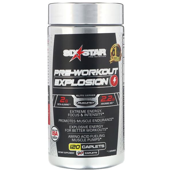 Pre-Workout Explosion, предтренировочный комплекс, 120капсуловидных таблеток