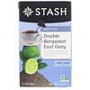 Stash Tea, Earl Grey, черный чай, двойной бергамот, 18чайных пакетиков, 33г (1,1унции)