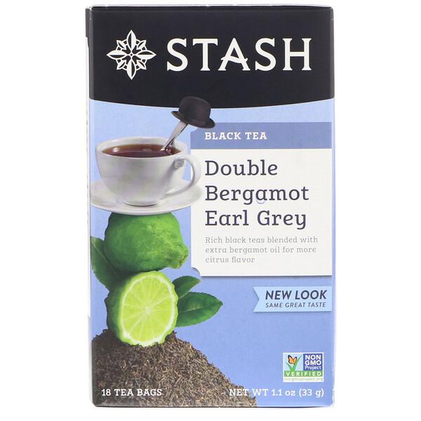 Earl Grey, черный чай, двойной бергамот, 18чайных пакетиков, 33г (1,1унции)